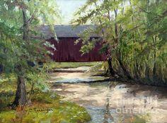 Pine Valley Covered Bridge 9x12. Oil