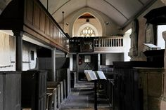 Interior of St James' Church, Cameley, Somerset
