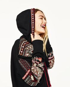 Image 3 of EMBROIDERED SWEATSHIRT from Zara
