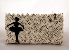 Handmade paper bag with ballerina decoupage design by Loulouditsa, $39.00