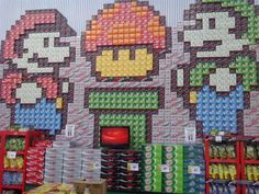 12pk soda store display! i need to meet the person who orchestrated this...