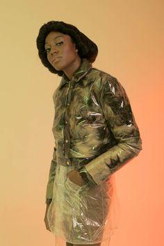 MaryMe-JimmyPaul feather PVC jacket