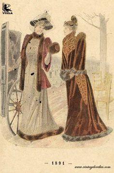 "Pochemuchka Rusian fashion magazine ""The Herald fashion"" 1890s Fashion, Fashion Plates, Belle Epoque, Good Old, Fashion Prints, Womens Fashion, Painting, Magazine, Art"