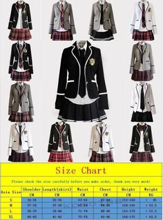 Uniforms 28017: New Womens Girls Slim Fit Dress School Uniform Japanese Coat Skirt Suits Cosplay -> BUY IT NOW ONLY: $54.89 on eBay!