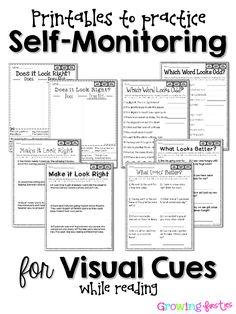 Teaching Readers to Self-Monitor by Growing Firsties