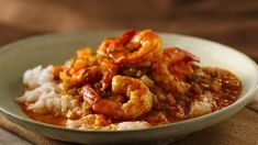 Enjoy this hearty shrimp that's served with rice – a wonderful dinner ready in an hour.