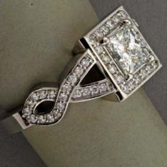 Pictures of engagement rings - Luscious blog - Princess and Pave Diamond Ring.jpg