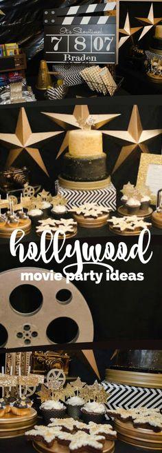 A Boys Hollywood Movie Themed Birthday Party