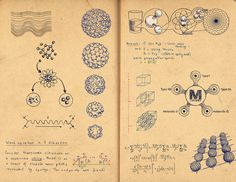 science & research sketchbook pages by Gabriella Barouch, via Behance