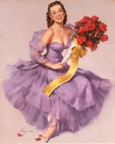 """Miss Sylvania"",Sylvania calendars, 1951-1960 by Gil Elvgren  #542"