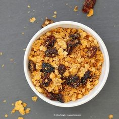 Red Lentil Granola with Coconut and Cranberries. Nut-free Grain-free - Vegan Richa