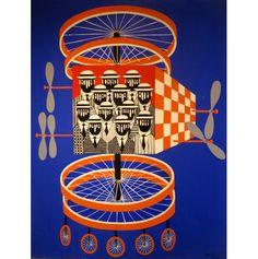"Yannis Gaitis (1923-1984). ""Nautilus Libellule"", 1971. Oil on canvas. Signed and dated bottom right. Dimensions: 116X89 cm.  Yannis Gaitis, Catalogue Raisonné, Ioannis F. Costopoulos Foundation, Athens 2003, no. 1159, p. 279 (illustrated).  Γιάννης Γαϊτης (1923 - 1984). ""Nautilus Libellule"", 1971. Ελαιογραφία σε μουσαμά. Υπογεγραμμένο και φέρει ημερομηνία κάτω δεξιά.  Διαστάσεις: 116X89 εκ.  Γιάννης Γαϊτης, Κριτικός κατάλογος, Αθήνα 2003, Νο. 1159, Σελ. 279 (απεικονίζεται)."