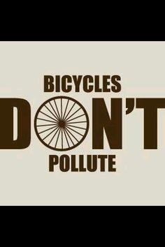Las bicicletas no contaminan