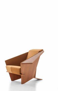 Cassina, Frank Lloyd Foundation Partner to Bring Wright-Designed Furniture into Homes Frank Lloyd Wright, Italian Furniture, Origami, Foundation, Furniture Design, Bring It On, Chairs, Homes, Home Decor