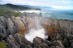 Pancake Rocks.  Punakaiki, West Coast, NZ www.tenikauretreat.co.nz