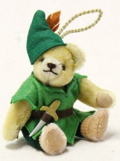 Peter Pan Teddy Ornament 22332-8 by Hermann-Spielwaren GmbH at The Toy Shoppe