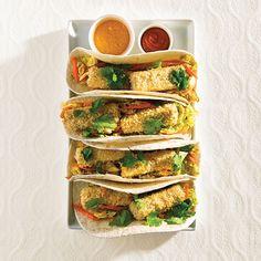 baked tofu banh-mi wraps