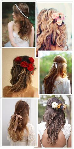 #Long Wedding Hair for vintage bride... Budget wedding ideas for brides, grooms, parents  planners ... https://itunes.apple.com/us/app/the-gold-wedding-planner/id498112599?ls=1=8 … plus how to organise an entire wedding ♥ The Gold Wedding Planner iPhone App ♥