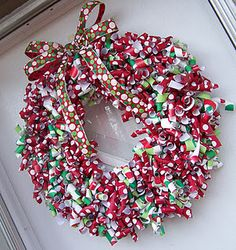 Curly Wrapping Paper Wreath