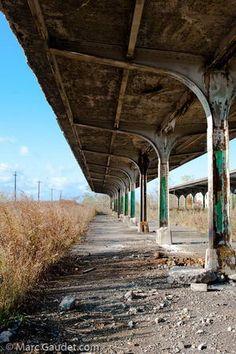 Abandoned Train Platform Buffalo Central Terminal