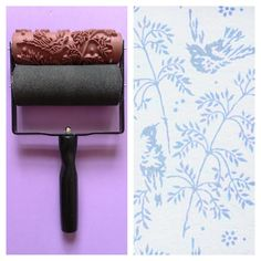 Patterned Paint Roller in Spring Bird Design, and Applicator by Not Wallpaper Patterned Paint Rollers. via Etsy.