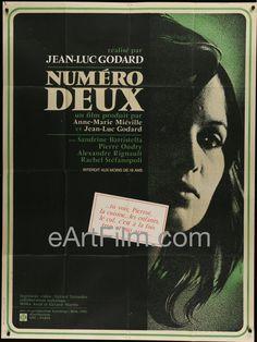 Happy Birthday #JeanLucGodard https://eartfilm.com/search?q=Jean-Luc+Godard #directors #NewWave #screenwriting #screenwriting #filmmakers #filmmaking #France #movie #movies #poster #posters #film #cinema #movieposter #movieposters    Numero Deux aka Number Two-Jean-Luc Godard-Sandrine Battistella
