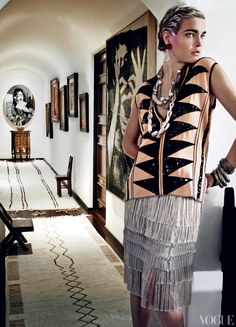 """Mario Testino's home / My home. Great """"white giant"""" Moroccan runners."""