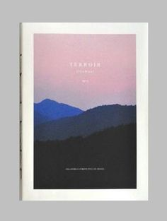 #Terroir Magazine Cover. mine kinda like this but with a big J across. faded? typography? block white? experiment