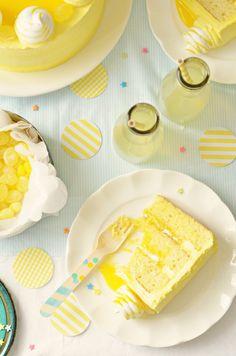Lemon Meringue Delight Cake via Sweetapolita