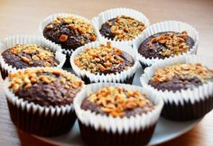 Diétás brownie muffin Sugar Free Sweets, Healthy Cookies, Winter Food, Cakes And More, Diabetic Recipes, Diet Recipes, Cake Recipes, Breakfast Recipes, Sweet Tooth