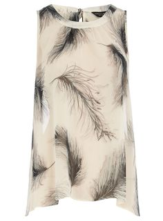 feather print swing top - Dorothy Perkins