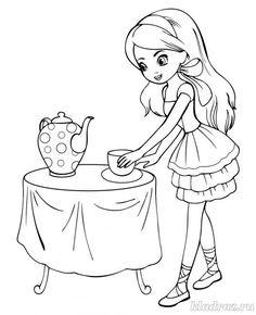 Раскраска для девочек 7-8 лет