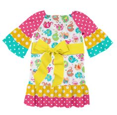 How cute is this elephant dress Sandra just created on Designed By Me by Lolly Wolly Doodle?!