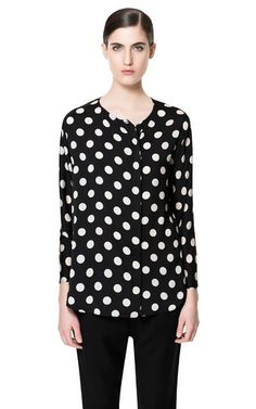 goodness i love polka dot. Zara is going to save me when i have to shop in paris for professional clothes.