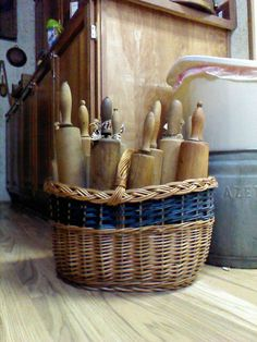 Rolling pins as kitchen decor