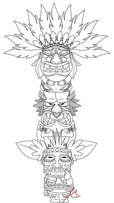 Totem Pole Coloring Pages . 30 Inspirational totem Pole Coloring Pages . Coloring Coloring Page Extraordinary Native American Book Coloring Book Pages, Printable Coloring Pages, Coloring Pages For Kids, Kids Coloring, Coloring Sheets, Native Art, Native American Art, Tiki Maske, Tiki Totem