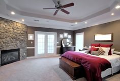 Check out these 101 incredible modern master bedroom design ideas. All colors and layouts along with many decorating ideas in this epic gallery collection of photos. Modern Master Bedroom, Master Bedroom Design, Dream Bedroom, Home Bedroom, Bedroom Decor, Bedroom Ideas, Large Bedroom, Master Bedrooms, Master Suite
