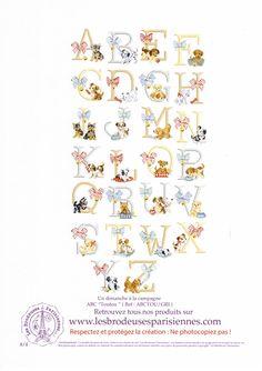 Cross stitch Les Brodeuses Parisiennes (LBP) - ABC Jolis Toutous) 8/8 (ABC Pretty Doggies)