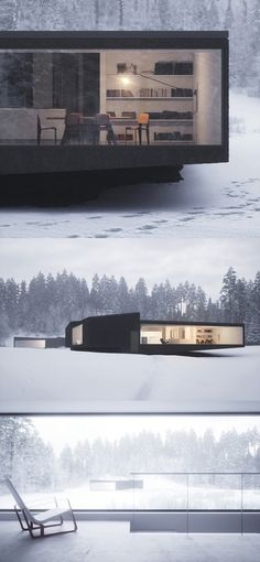 Ultimate escape house, incredible view. I would love to watch the snow fall from here.