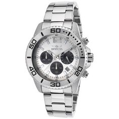 Invicta Men's Pro Diver Chronograph - Choice of Color Invicta Watch Bands, Rolex Watches, Watches For Men, Discount Watches, Watch Sale, Stainless Steel Watch, Fashion Watches, Men's Fashion, Casio Watch