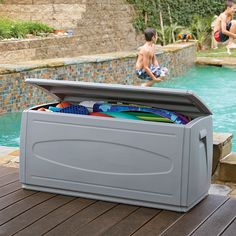 Delicieux Large Deck Box. POOL TOY STORAGEBike ...