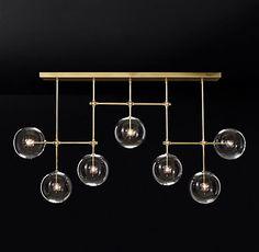 Glass Globe Mobile Linear Chandelier | RH Modern
