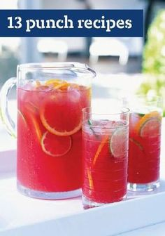 13 Punch Recipes – These cool and refreshing punch recipes are perfect for parties and ready in minutes. Fruity or fizzy, sweet or tangy, your guests will savor every sip of these delicious drinks. Plus, prep is easy—leaving you with more time to enjoy your summer barbecue or outdoor get-together.