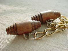 Vintage Worn Wooden Toggle Button Chain Set for Renaissance Cloak Cape