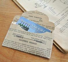 Laminate & Sew Gift Card Envelopes