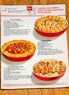 1964 Ad Campbell's Soup Casserole 60s Recipe Biscuit Chicken Pie Sixties YFR1
