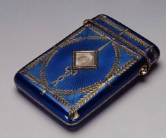Cigarette case which belonged to Nicholas, II ✿ the picture of Alexei