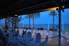 Dinner party for an Incentive group, in Ibiza, at the beach restaurant in Playa den bossa