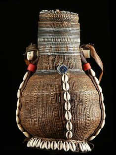 Africa   A decorated calabash used as a Milk Pot by the Borana or Gudji people of Ethiopia   ca. 1990