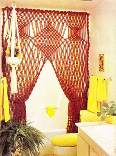 Foxy Lady Bath Swag - Macrame Moods 1976 by Zombie Leah, via Flickr